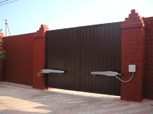 ворота гаражные с автоматическим электроприводом